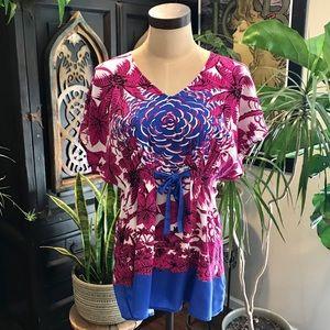 CAbi jewel kimono floral tunic top